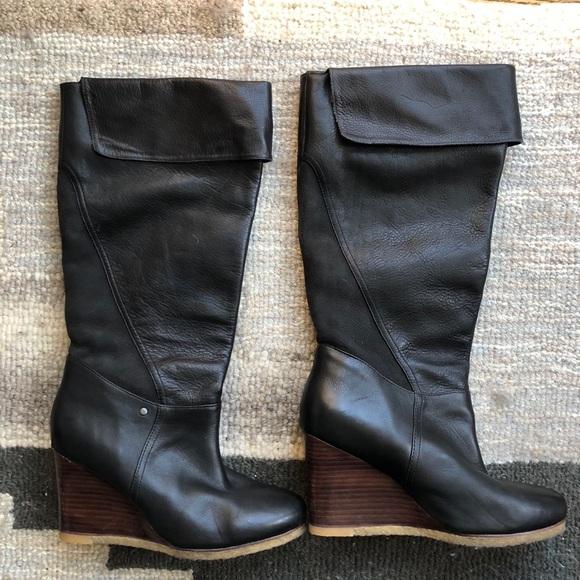 40a476d26f7 UGG wedge fold down knee boots Ravenna
